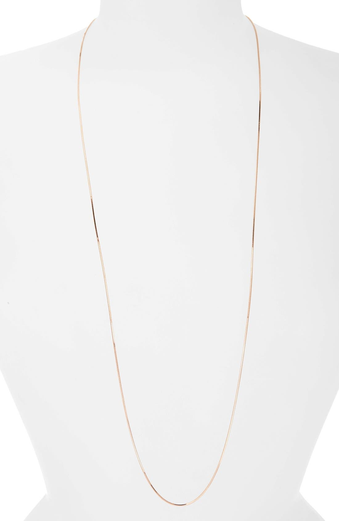 Chain Necklace,                         Main,                         color, Rose Gold