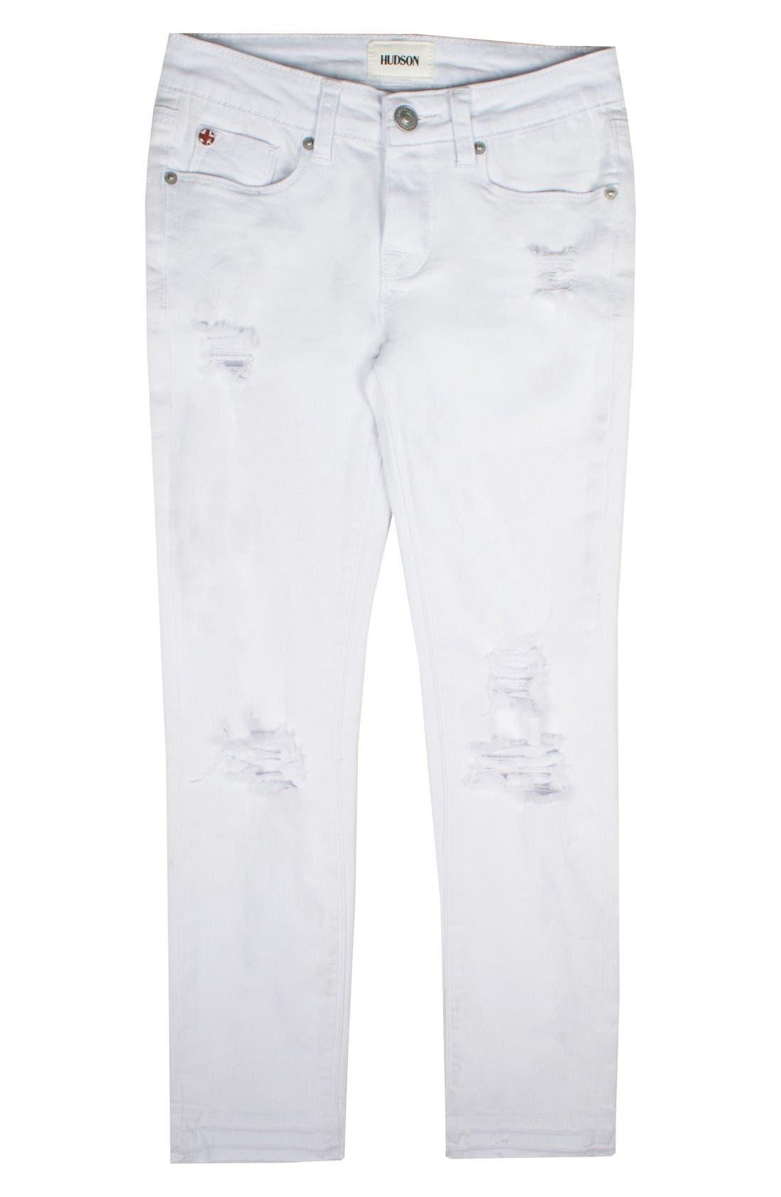 Main Image - Hudson Kids Seaside Crop Skinny Jeans (Big Girls)