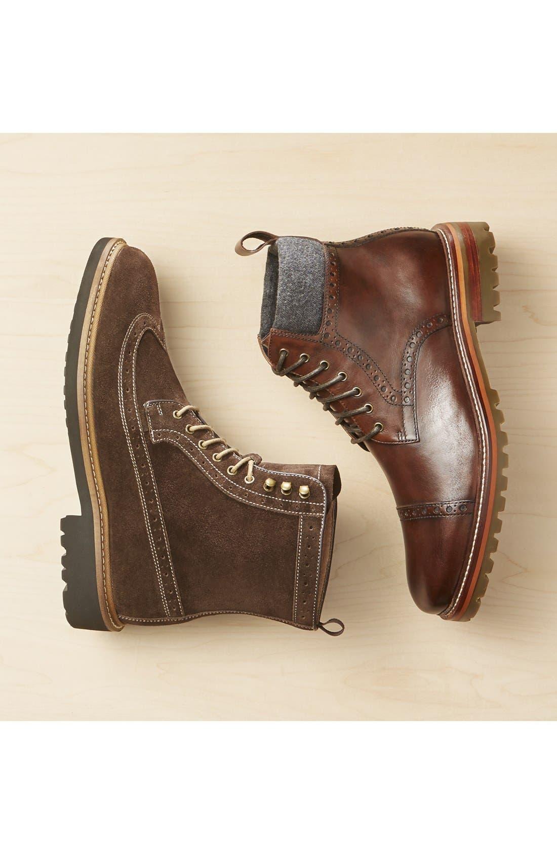 Alternate Image 9  - J&M 1850 'Karnes' Brogue Cap Toe Boot (Men)