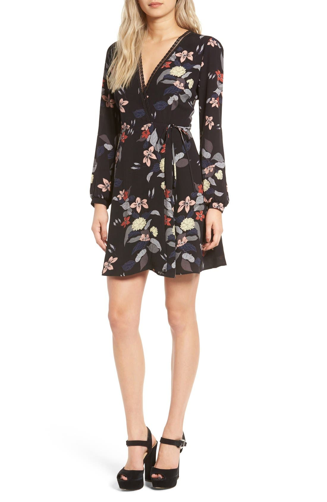 Main Image - ASTR Floral Print Wrap Dress