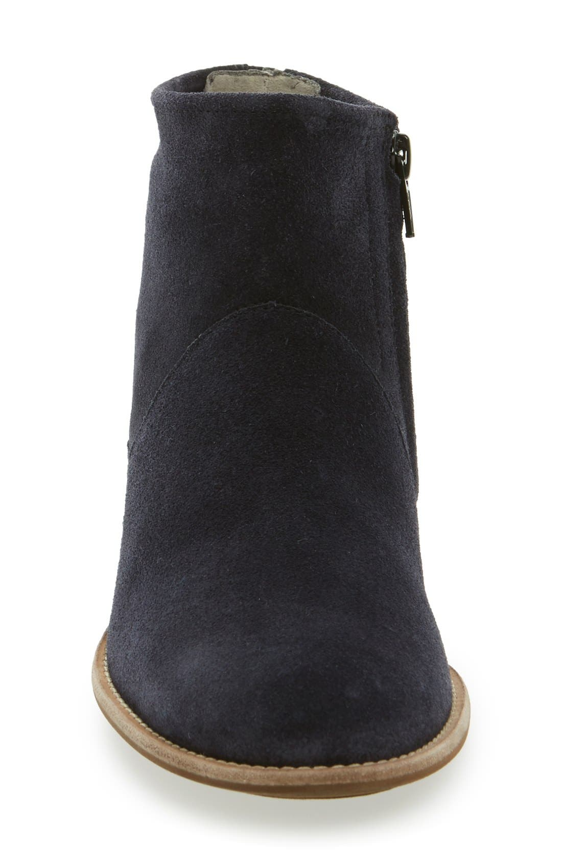 Logan Bootie,                             Alternate thumbnail 3, color,                             Navy Suede