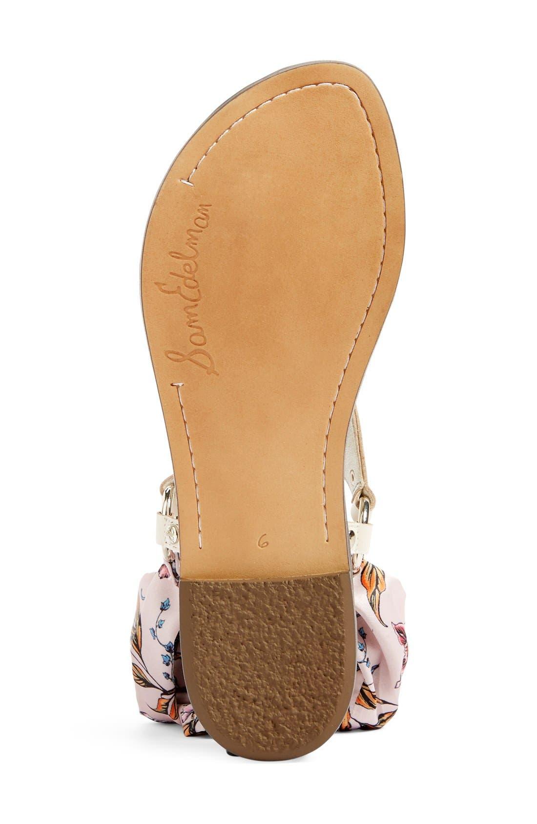 Alternate Image 4  - Sam Edelman Giliana Ankle Tie Thong Sandal (Women)