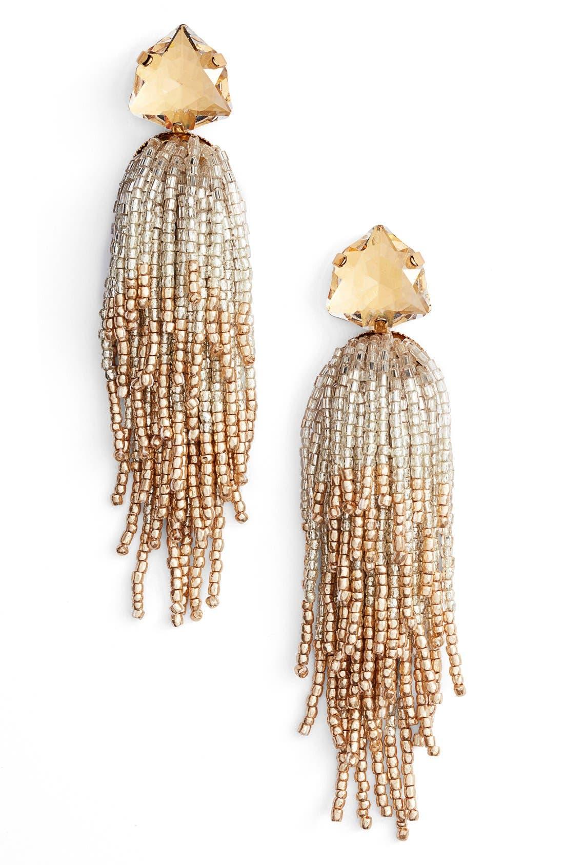 Alternate Image 1 Selected - Tory Burch Tassel Earrings