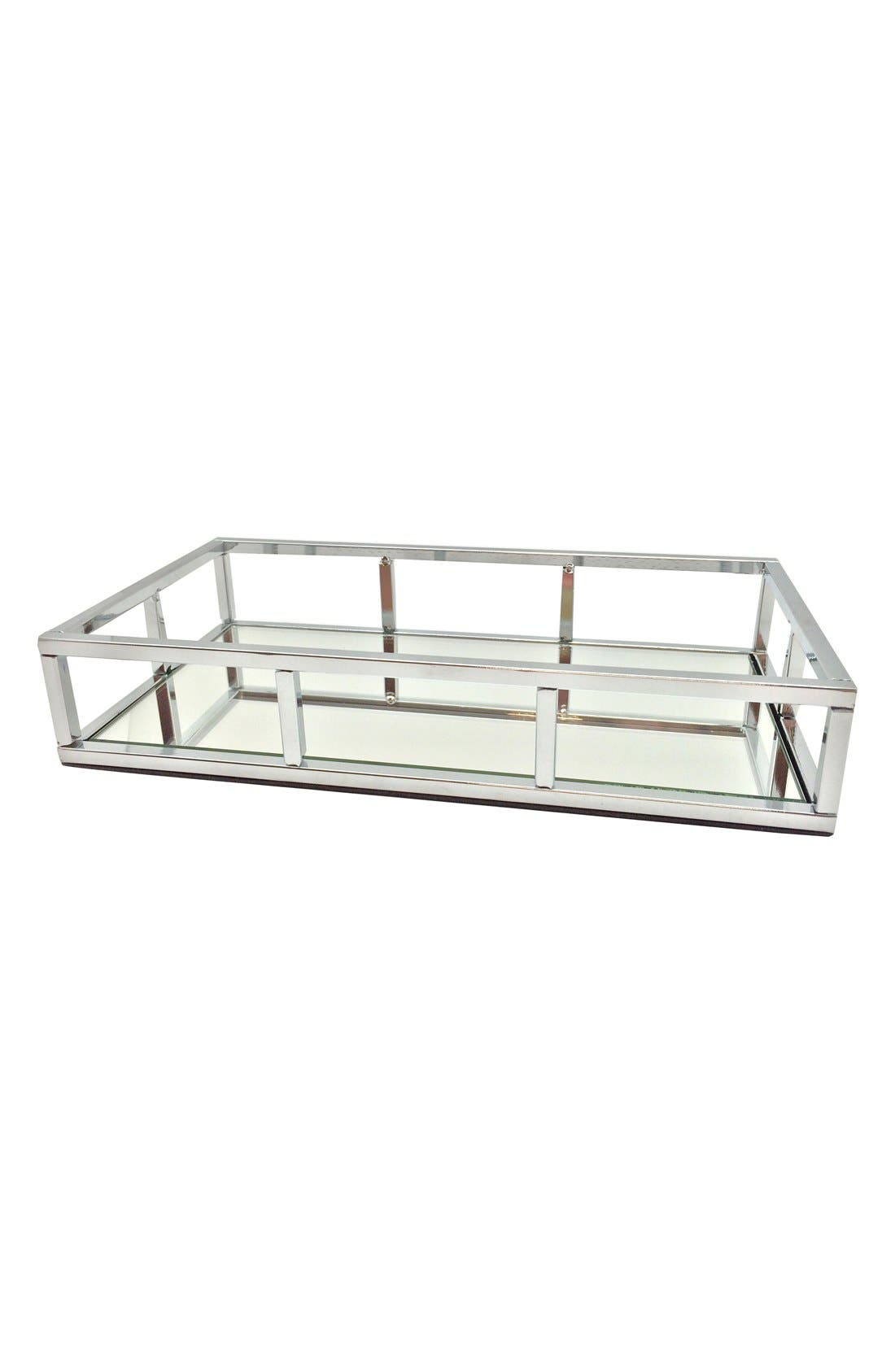 Danielle Creations Chrome Mirror Tray (Nordstrom Exclusive)