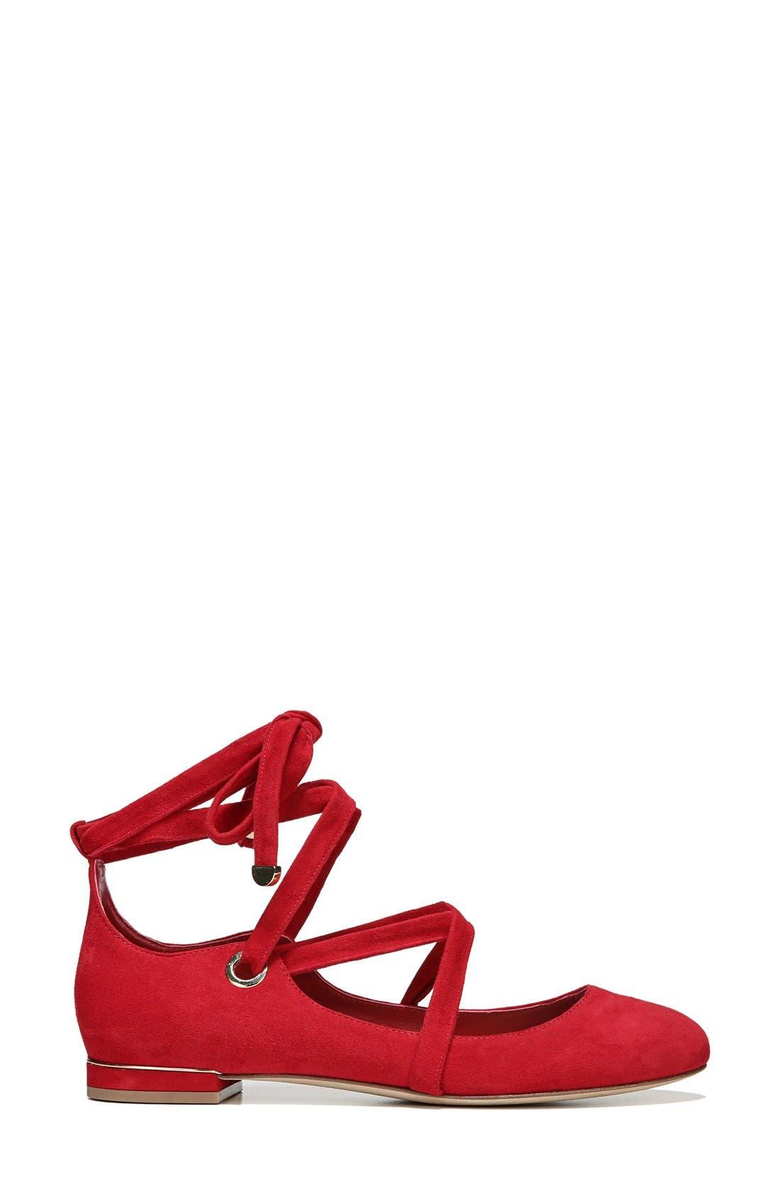 Alternate Image 3  - Diane von Furstenberg Dakar Ankle Tie Flat (Women)
