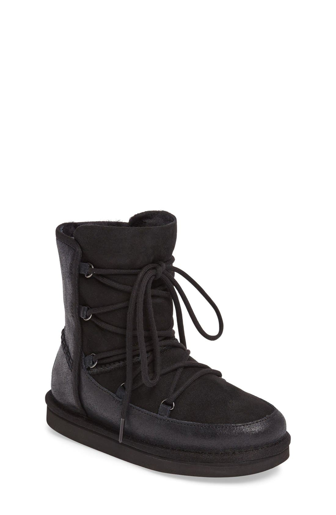 Eliss Water Resistant Suede Boot,                         Main,                         color, Black Suede