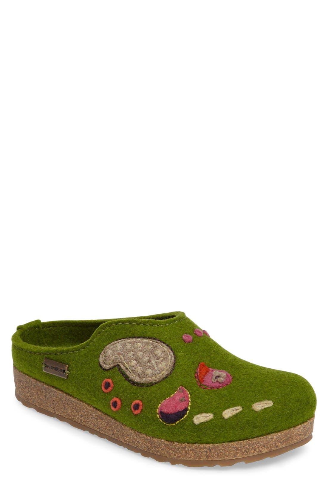Paisley Slipper,                         Main,                         color, Green Wool