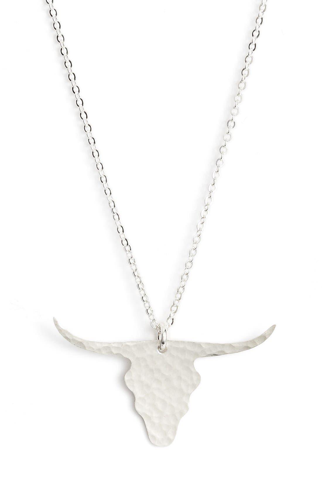 Alternate Image 2  - Nashelle Longhorn Pendant Necklace