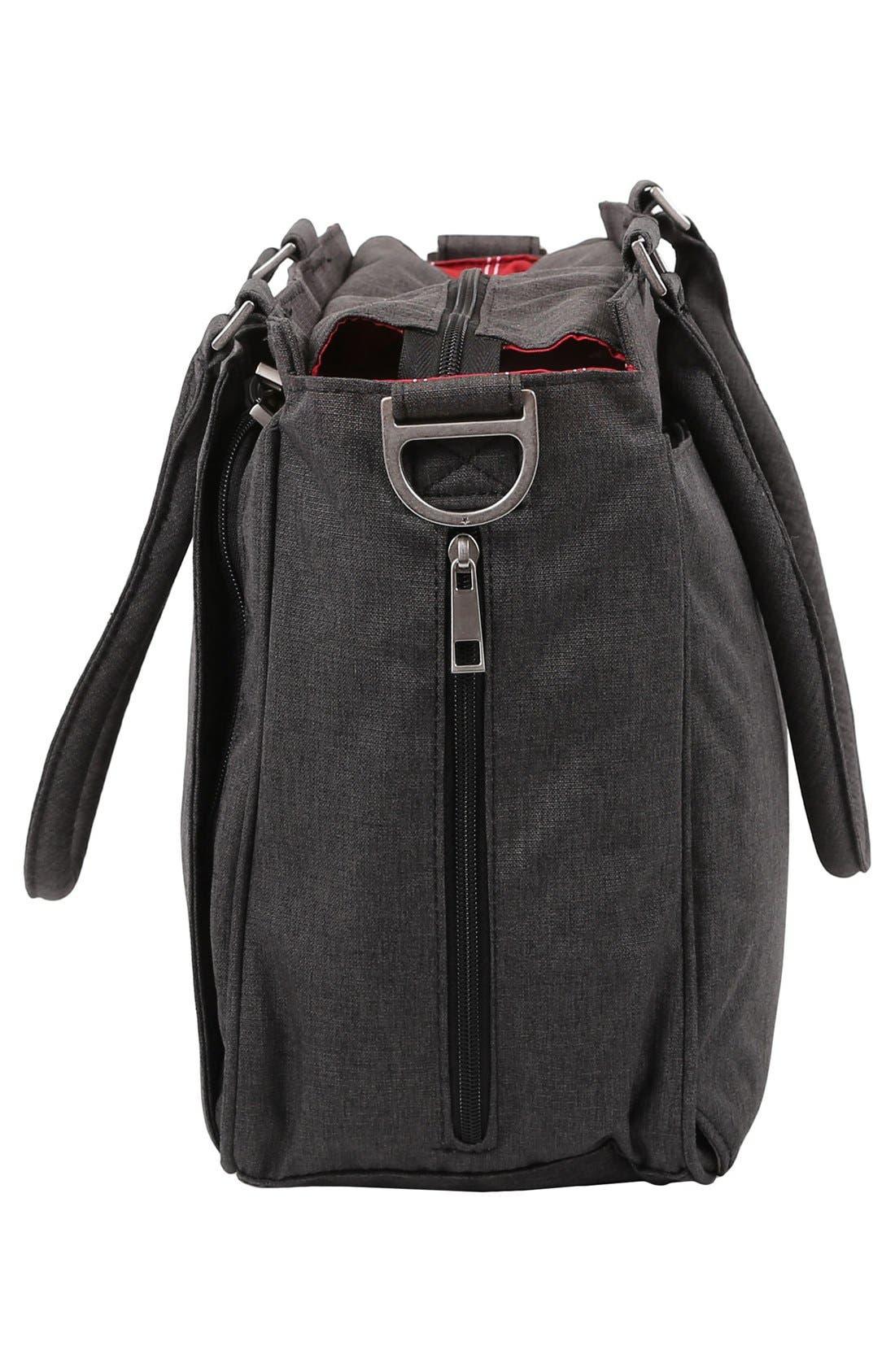 'Be Classy - Onyx Collection' Messenger Diaper Bag,                             Alternate thumbnail 2, color,                             Chrome