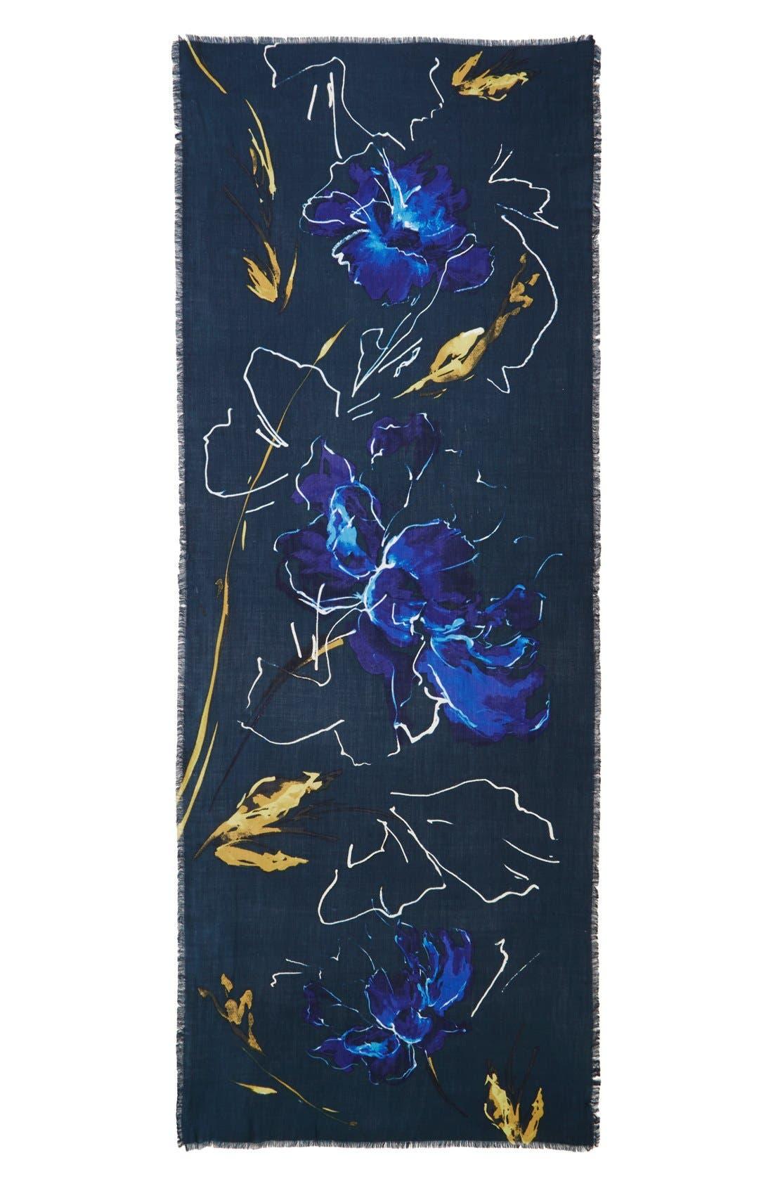 Alternate Image 2  - Nordstrom Expressionist Floral Print Scarf