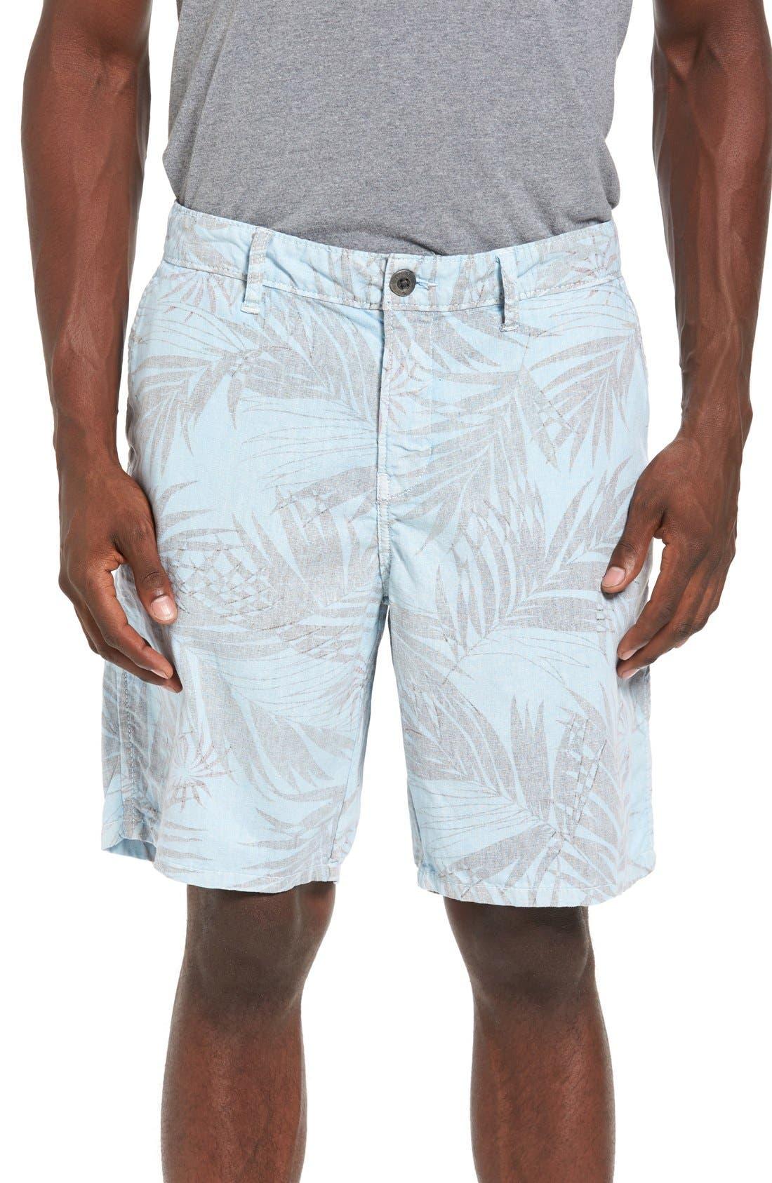 Rio Linen Shorts,                             Main thumbnail 1, color,                             Waterfall