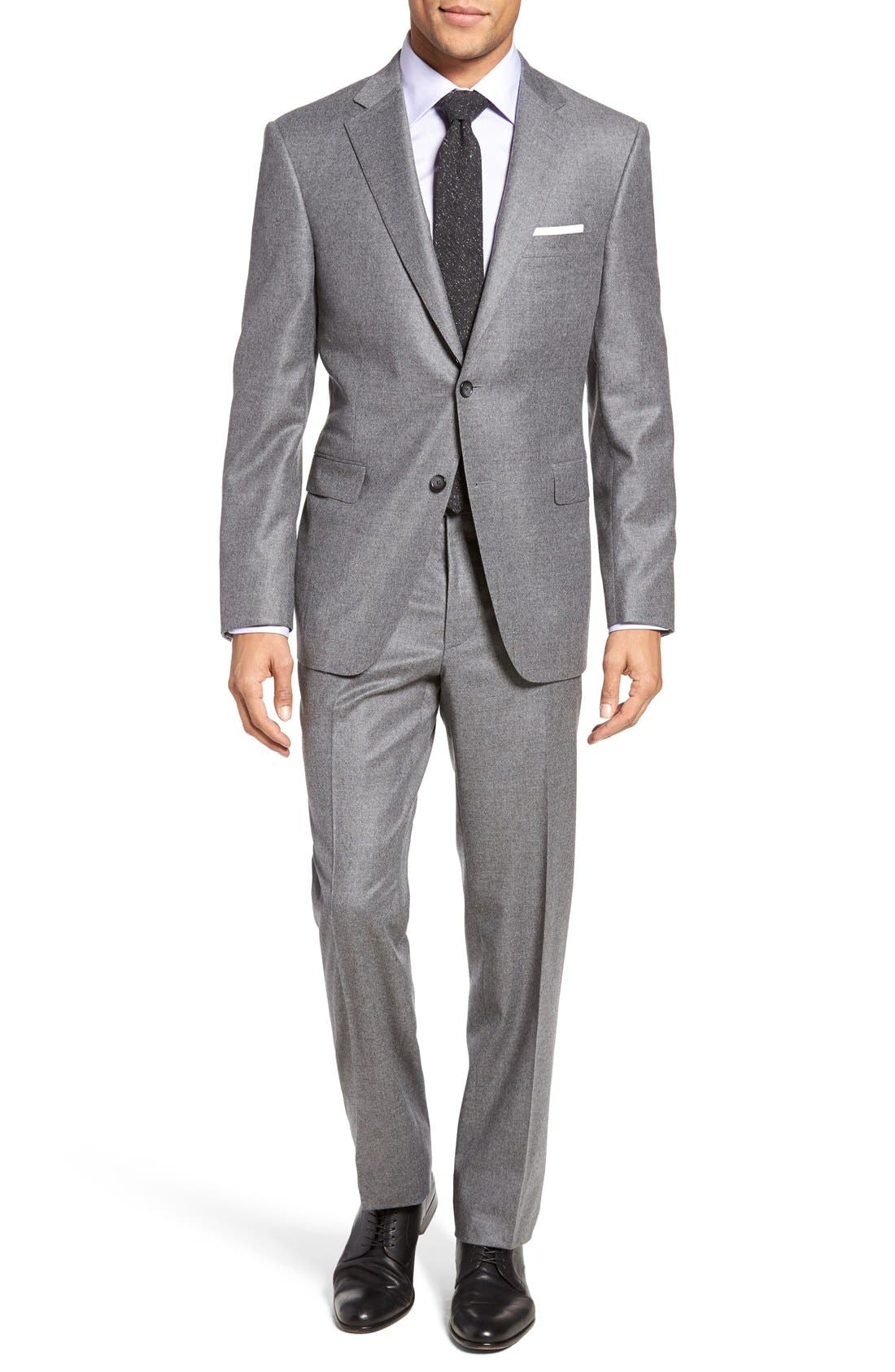 Beckett Classic Fit Solid Wool & Cashmere Suit,                         Main,                         color, Light Grey