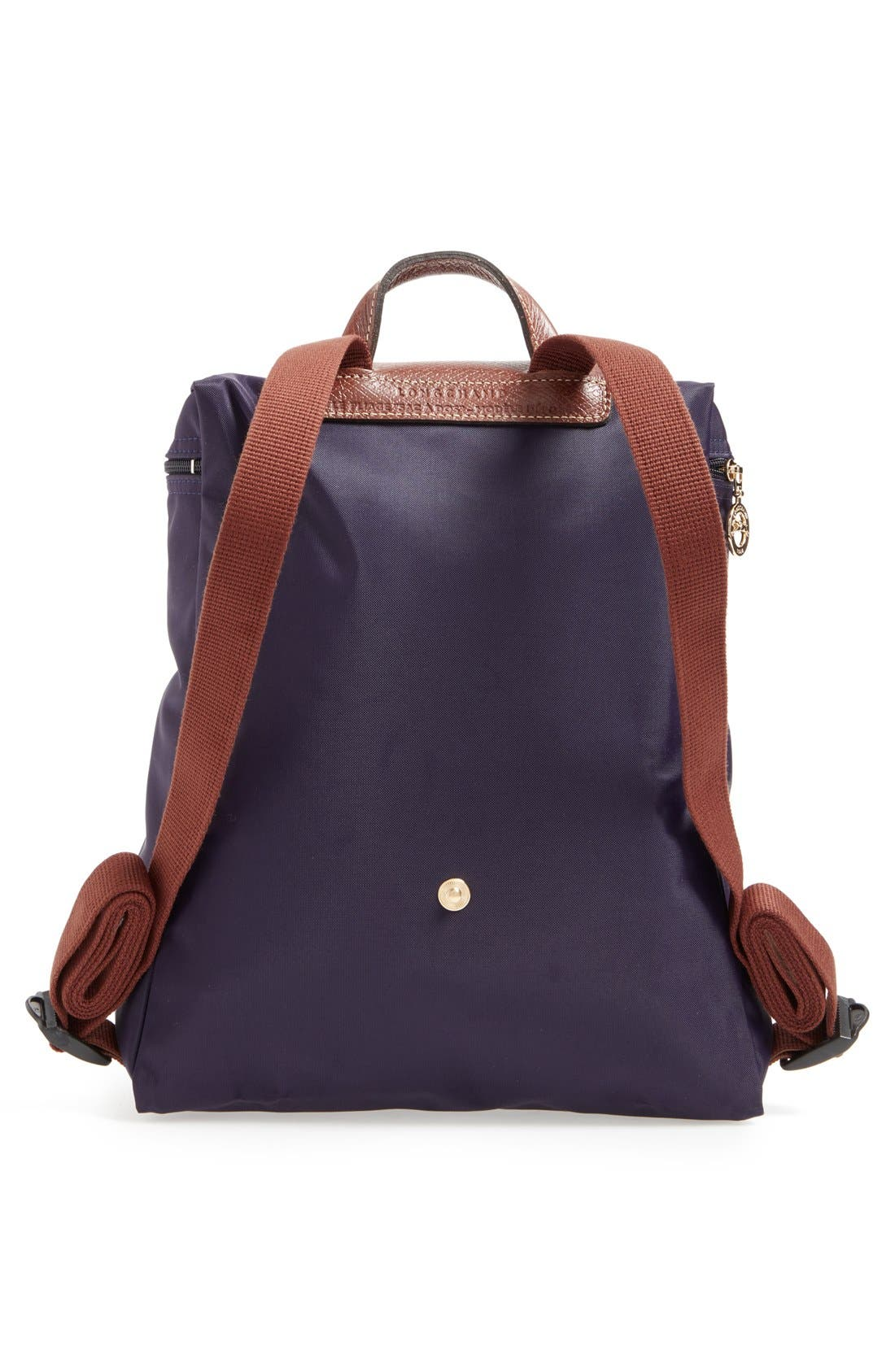 'Le Pliage' Backpack,                             Alternate thumbnail 3, color,                             Bilberry