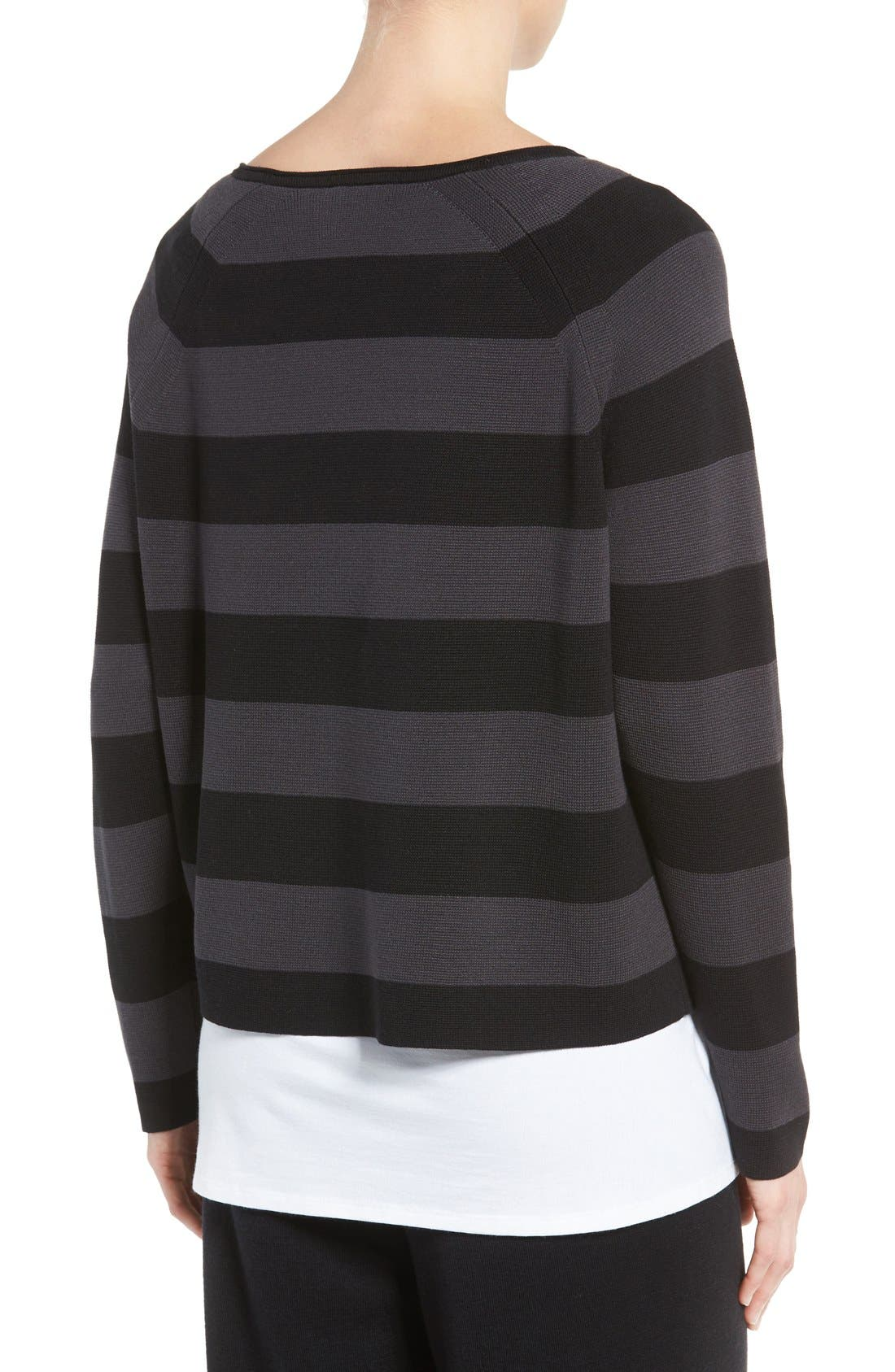 Alternate Image 3  - Eileen Fisher Crop Silk & Organic Cotton Top (Regular & Petite)