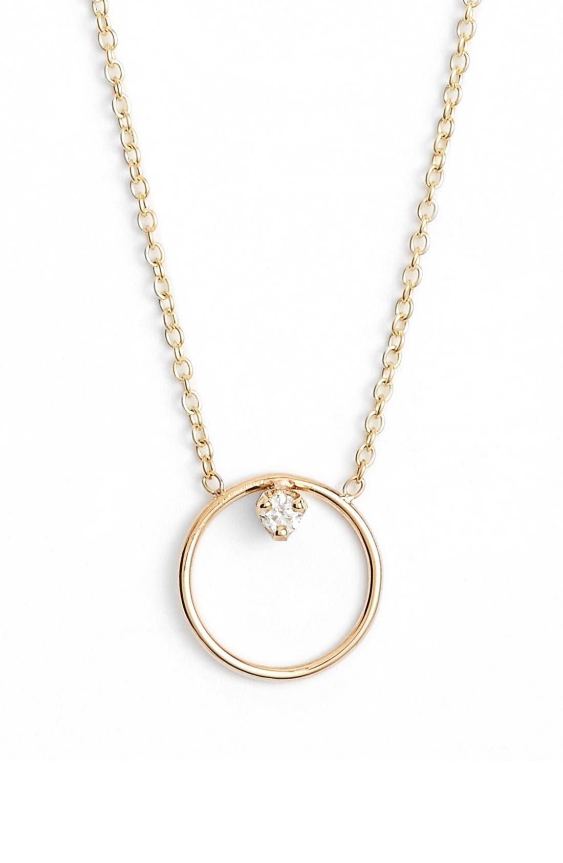 Main Image - Zoë Chicco Diamond Circle Necklace
