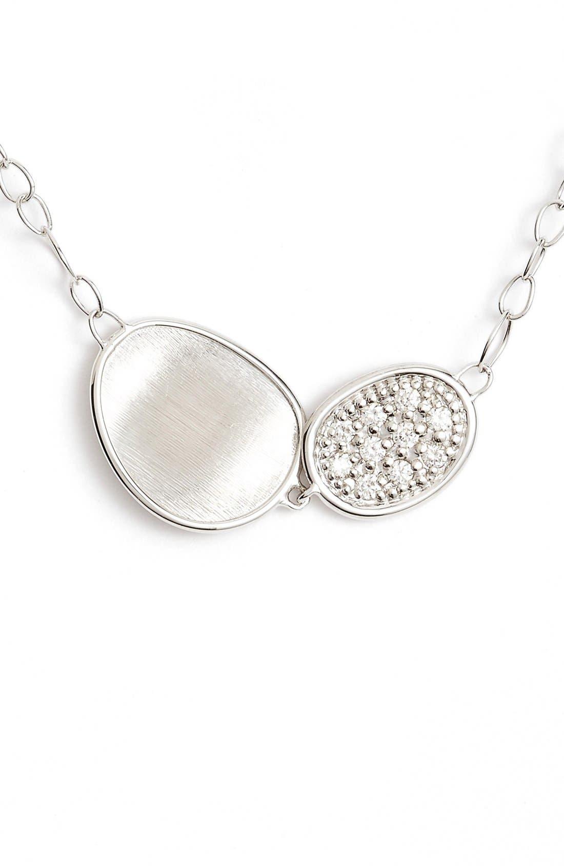 Lunaria Pendant Necklace,                             Main thumbnail 1, color,                             White Gold