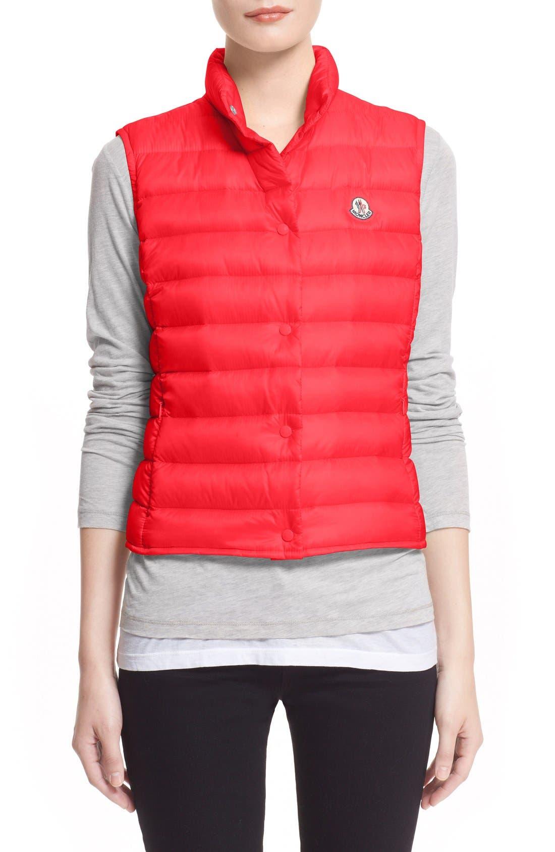 MONCLER Liane Water Resistant Short Down Vest