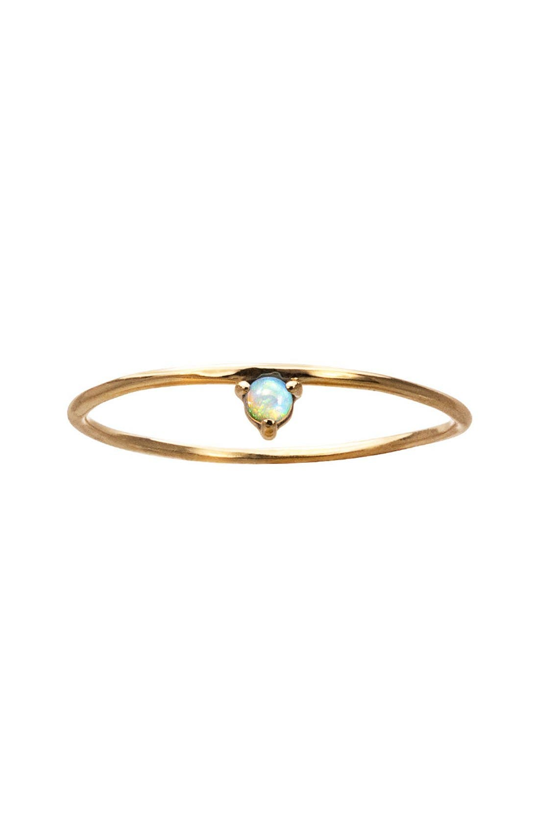 Counting Collection One-Step Opal Ring,                         Main,                         color, Yellow Gold