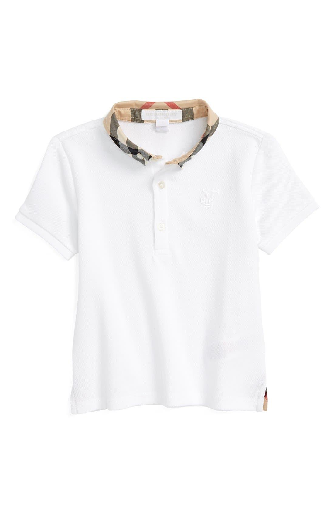 William Cotton Polo,                         Main,                         color, White