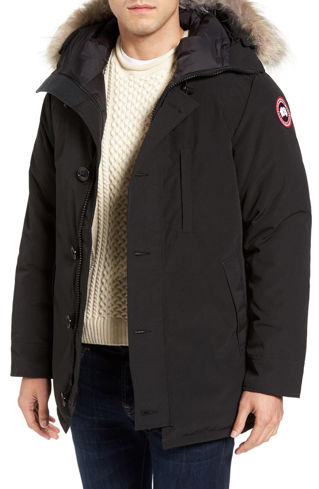 Alternate Image 1 Selected - Canada Goose 'Chateau' Slim Fit Genuine Coyote Fur Trim Jacket