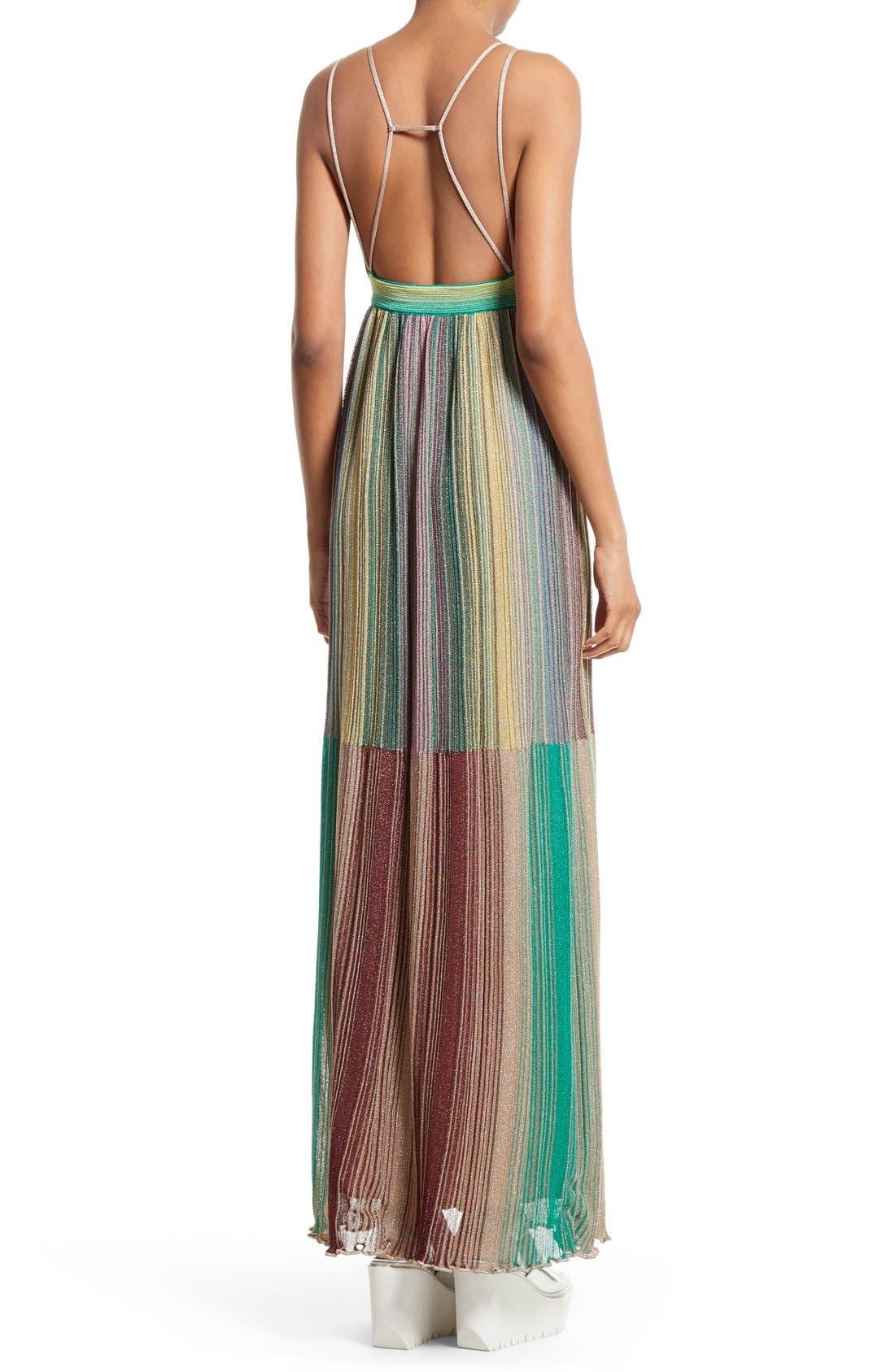 Alternate Image 2  - M Missoni Plissé Multicolor Maxi Dress