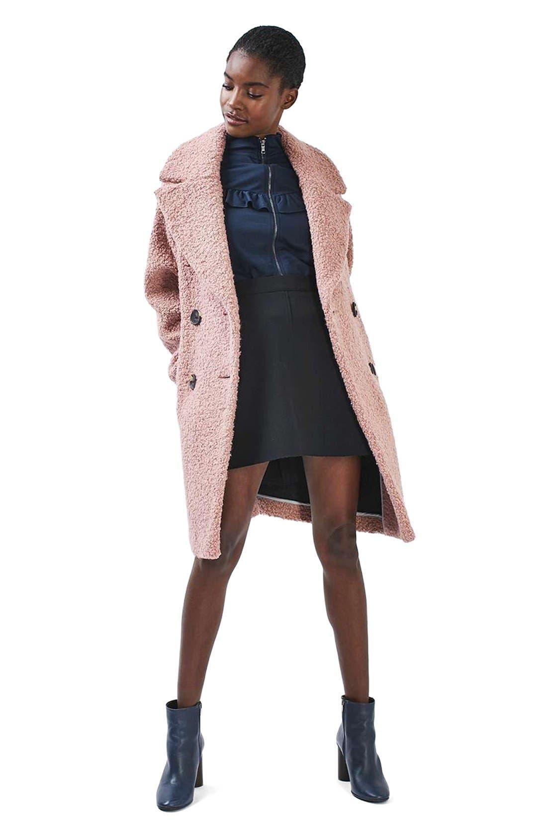 Alicia Bouclé Coat,                             Alternate thumbnail 2, color,                             Pink