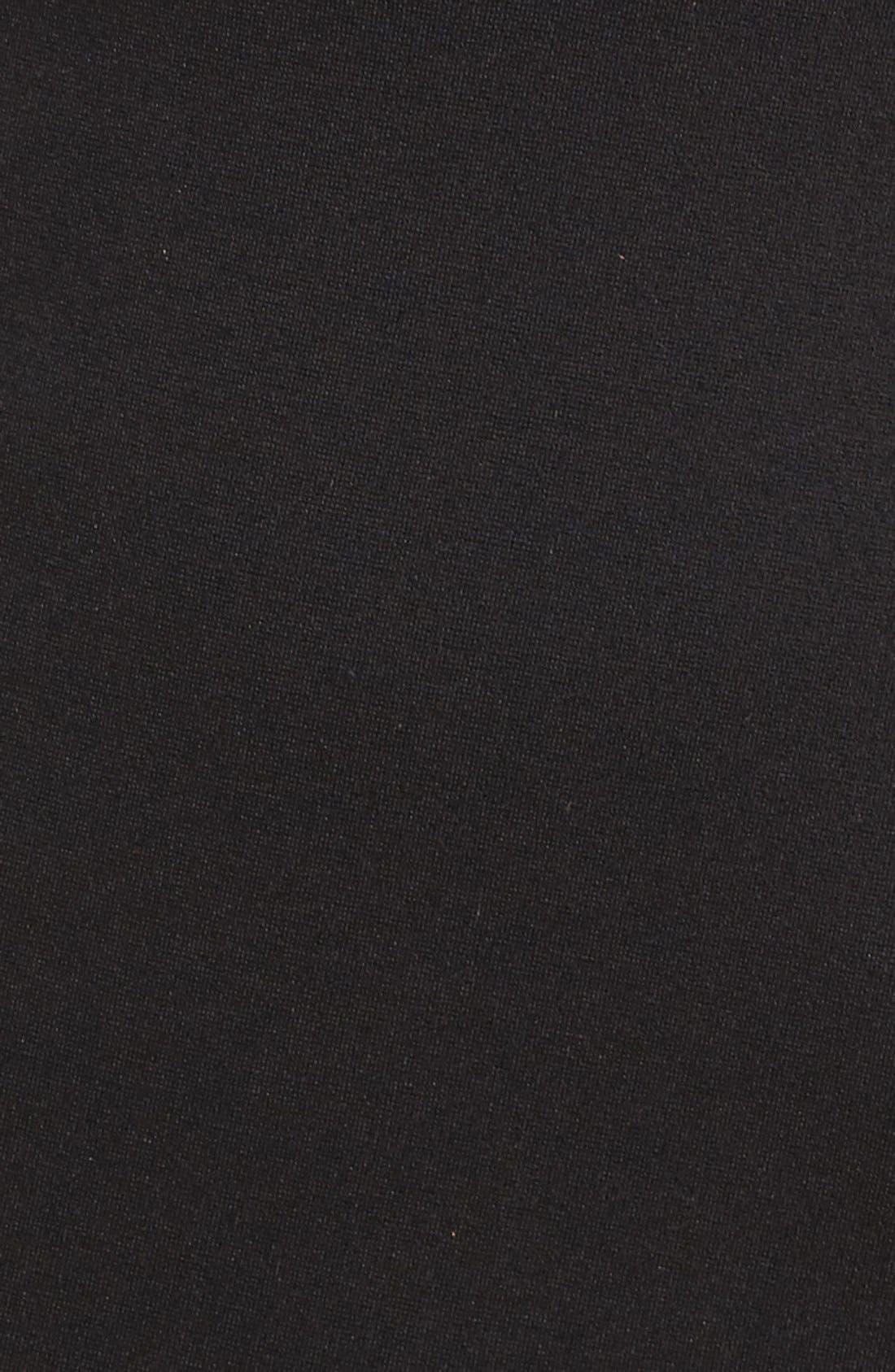 Ponte Cutout Sheath Dress,                             Alternate thumbnail 6, color,                             Black
