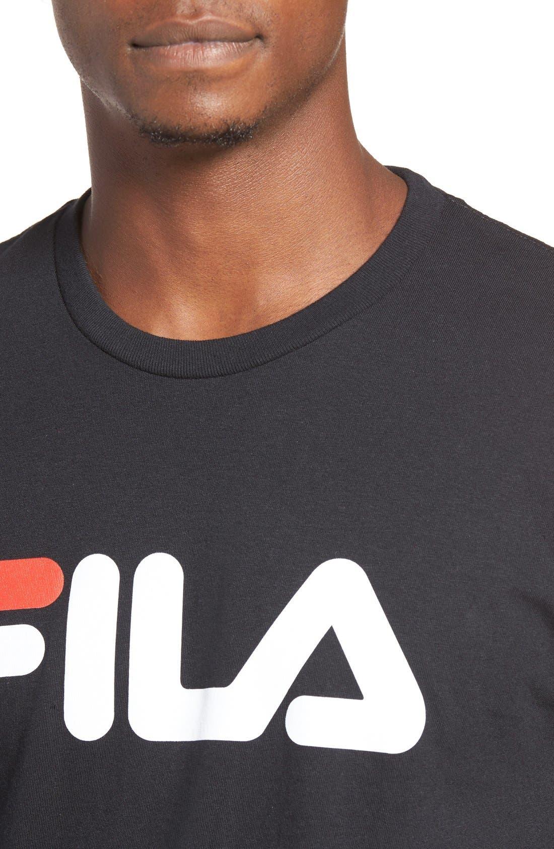 USA Graphic T-Shirt,                             Alternate thumbnail 4, color,                             Black