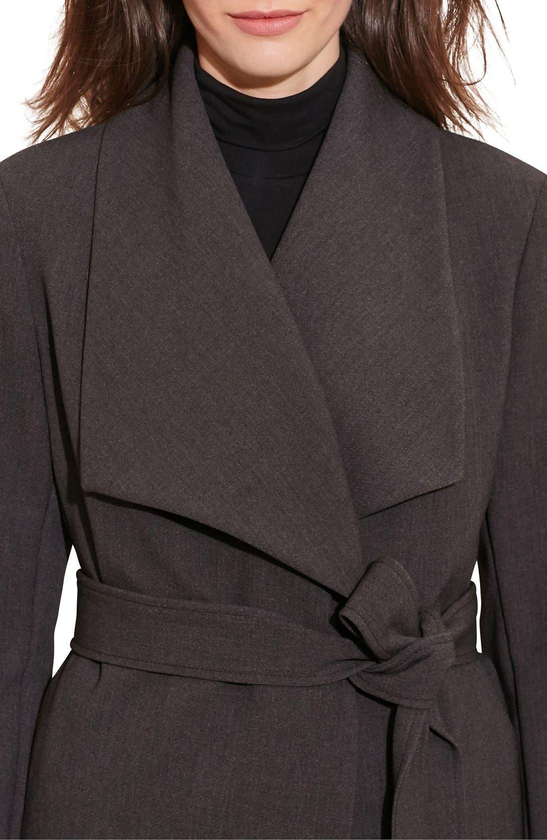 Alternate Image 7  - Lauren Ralph Lauren Belted Drape Front Coat (Regular & Petite)