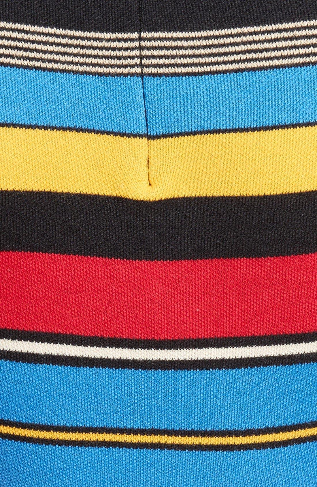 Stripe Crop Top,                             Alternate thumbnail 6, color,                             Multi