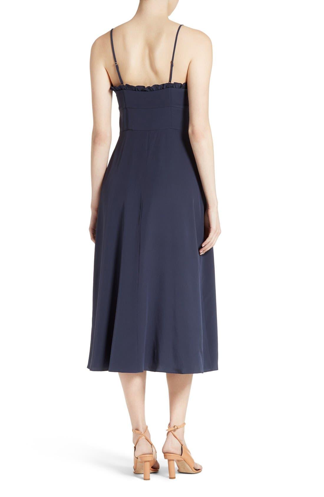 Alternate Image 2  - Tibi Ruffled Silk Midi Dress
