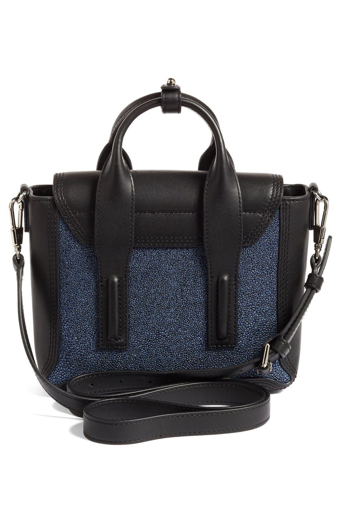 Mini Pashli Leather Satchel,                             Alternate thumbnail 3, color,                             Sapphire