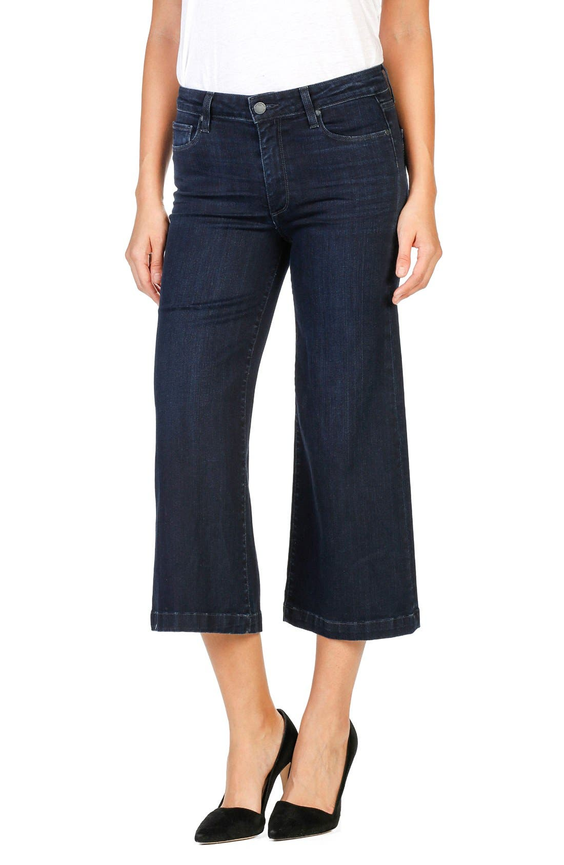 Alternate Image 1 Selected - PAIGE Legacy - Lori Crop Wide Leg Jeans