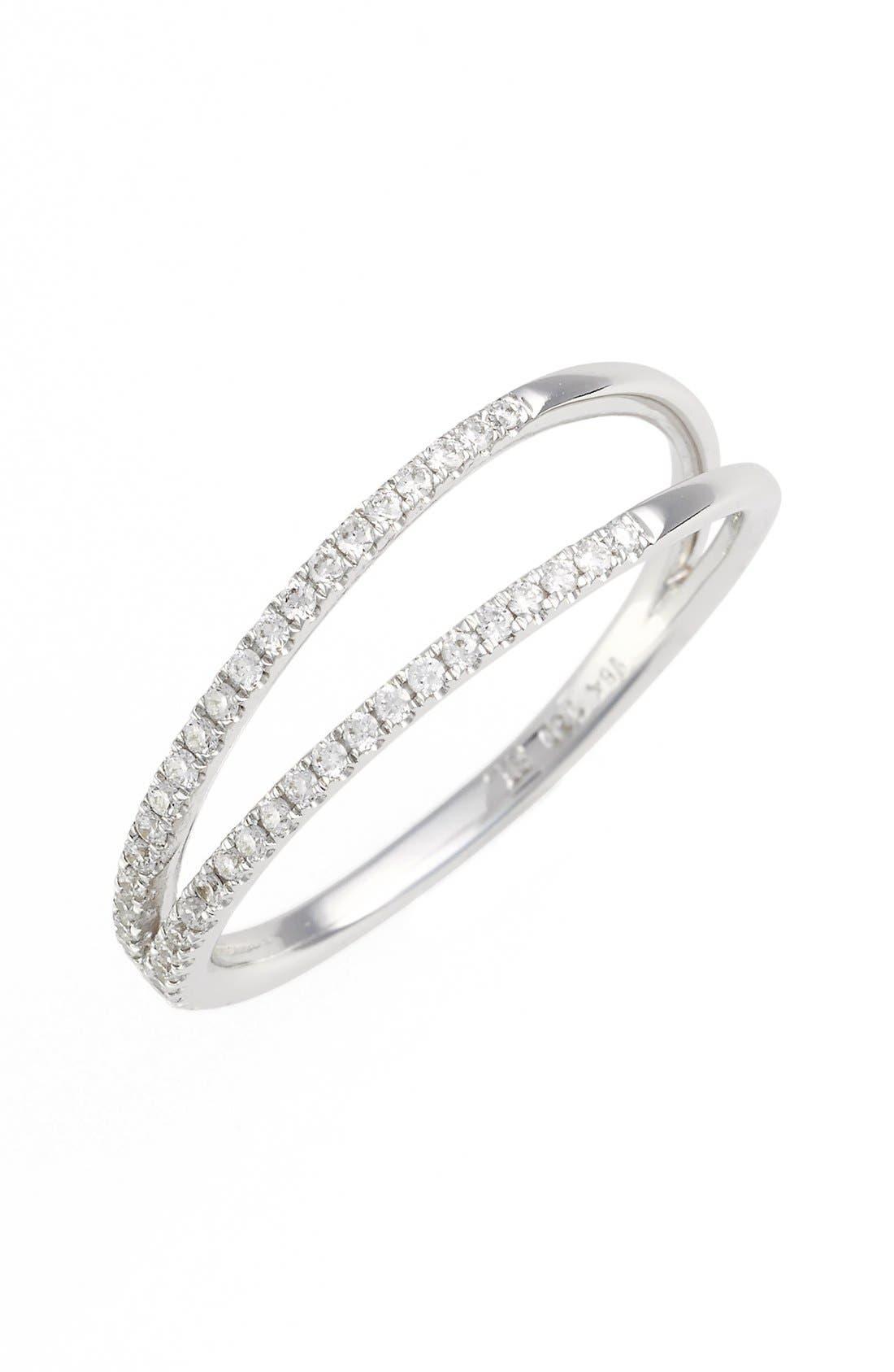 BONY LEVY Diamond Two Row Ring