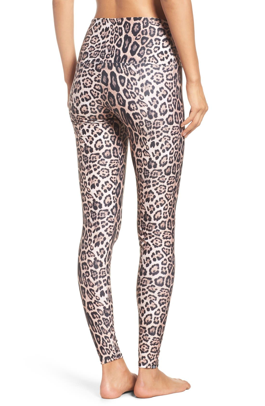 High Waist Leggings,                             Alternate thumbnail 7, color,                             Leopard