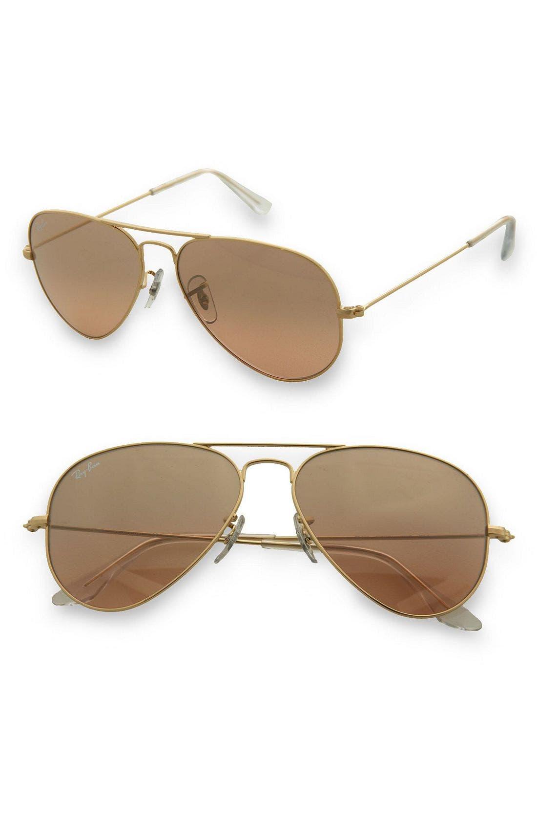 'Original Aviator' 58mm Sunglasses,                         Main,                         color, Gold
