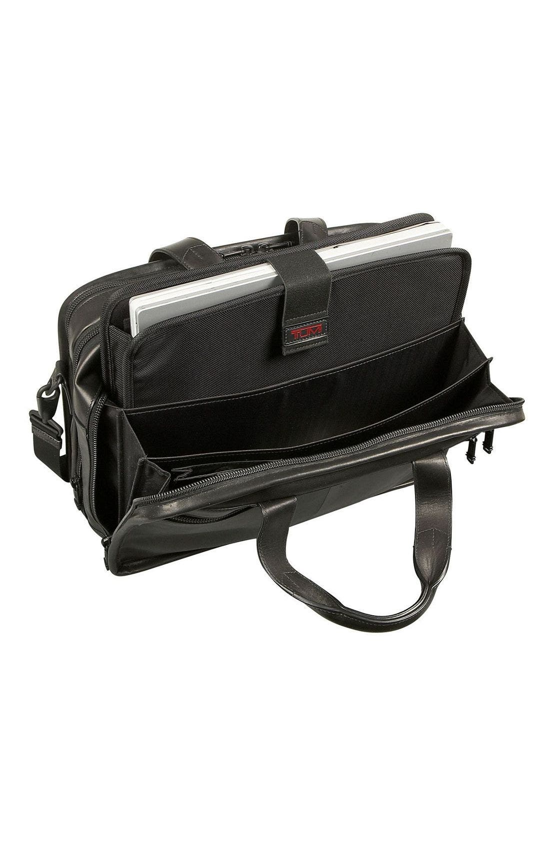 Alternate Image 3  - Tumi 'Alpha' Expandable Organizer Leather Computer Briefcase