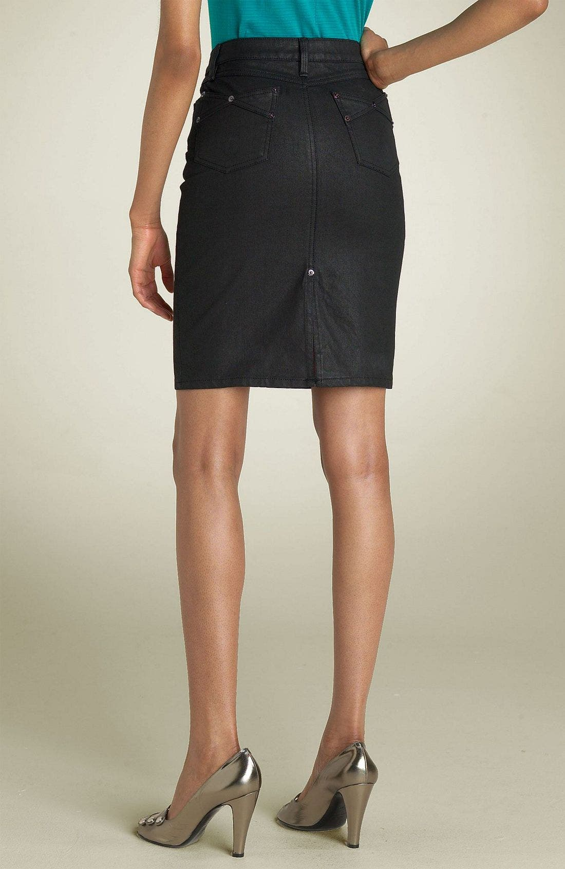 Alternate Image 2  - MARC BY MARC JACOBS Denim Skirt (Black Coated)