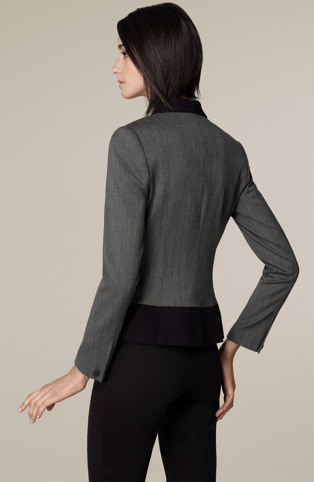 'Jem' One Button Stretch Wool Jacket,                             Alternate thumbnail 2, color,                             Smoke