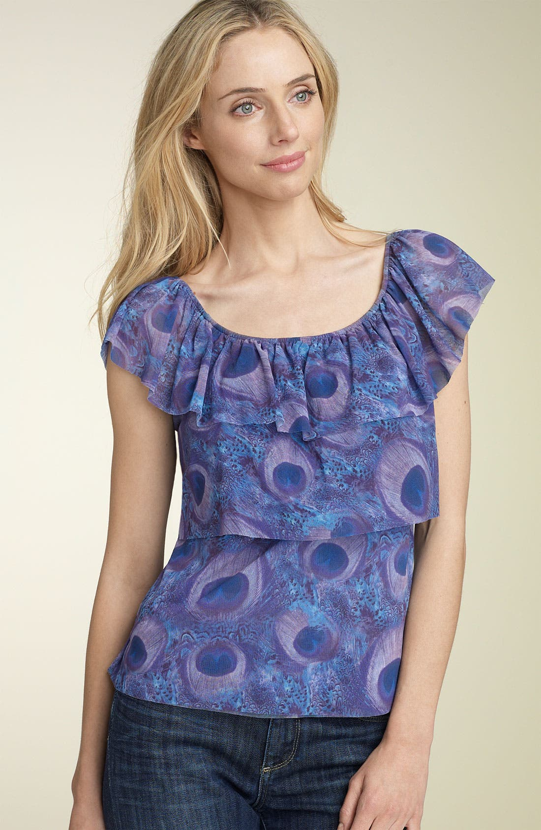 Alternate Image 1 Selected - Sweet Pea by Stacy Frati Ruffle Tier Mesh Top