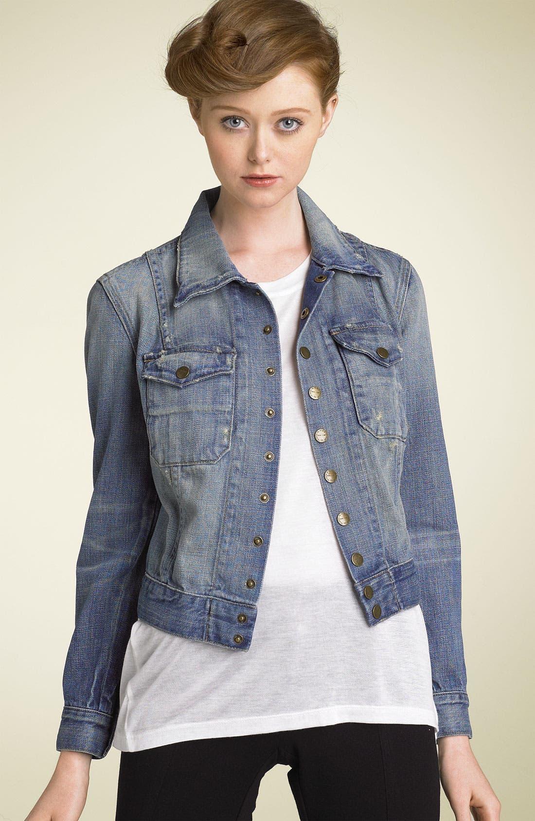 Main Image - Current/Elliott 'The Snap' Stretch Denim Jacket