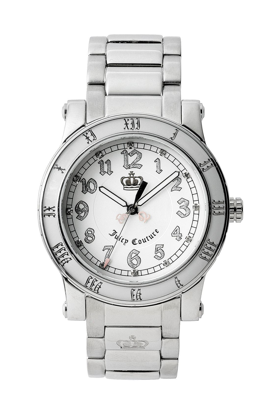 Alternate Image 1 Selected - Juicy Couture 'HRH' Bracelet Watch