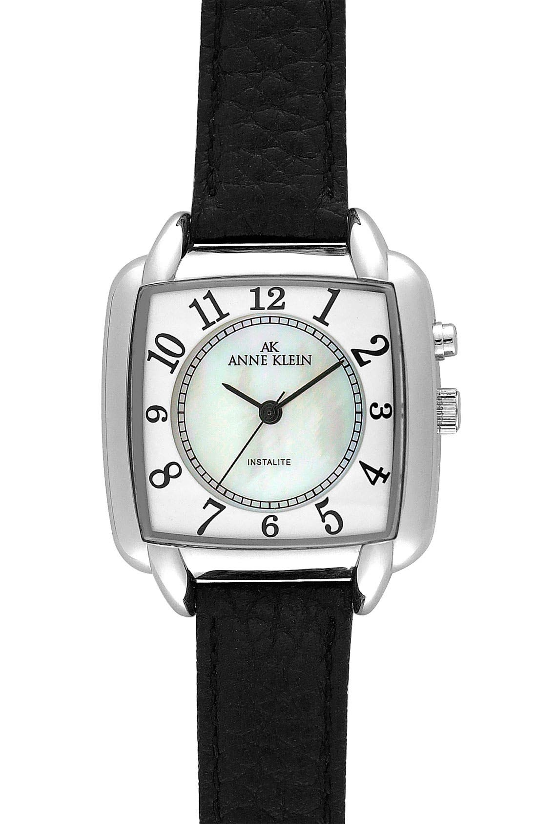 Alternate Image 1 Selected - Anne Klein Square Dial Watch