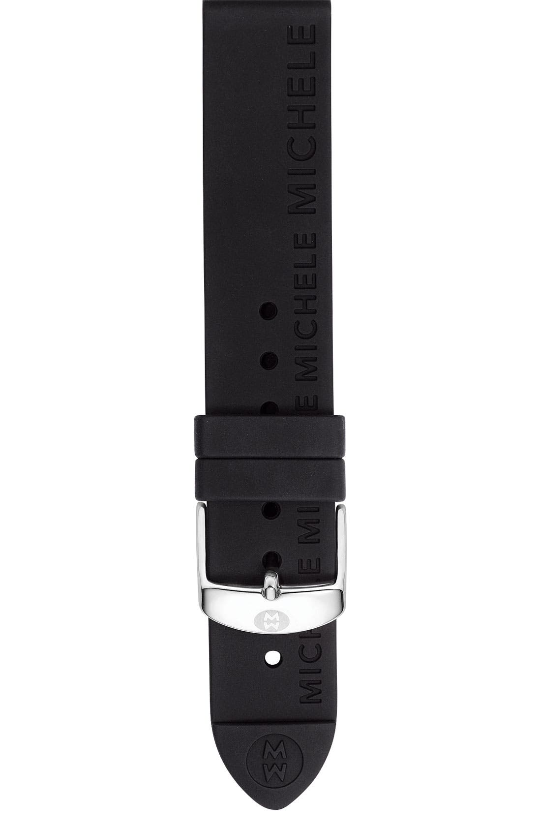Main Image - MICHELE 18mm Silicone Watch Strap