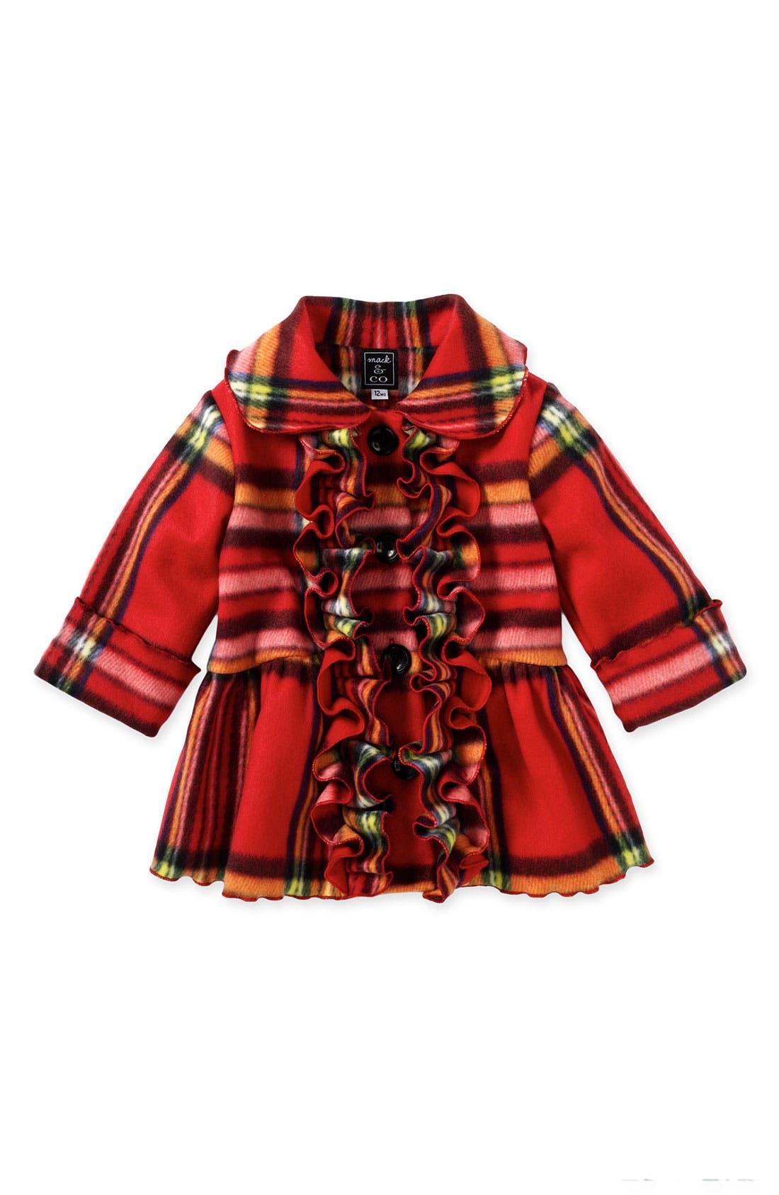 Alternate Image 1 Selected - Mack & Co. Ruffle Front Coat (Infant)