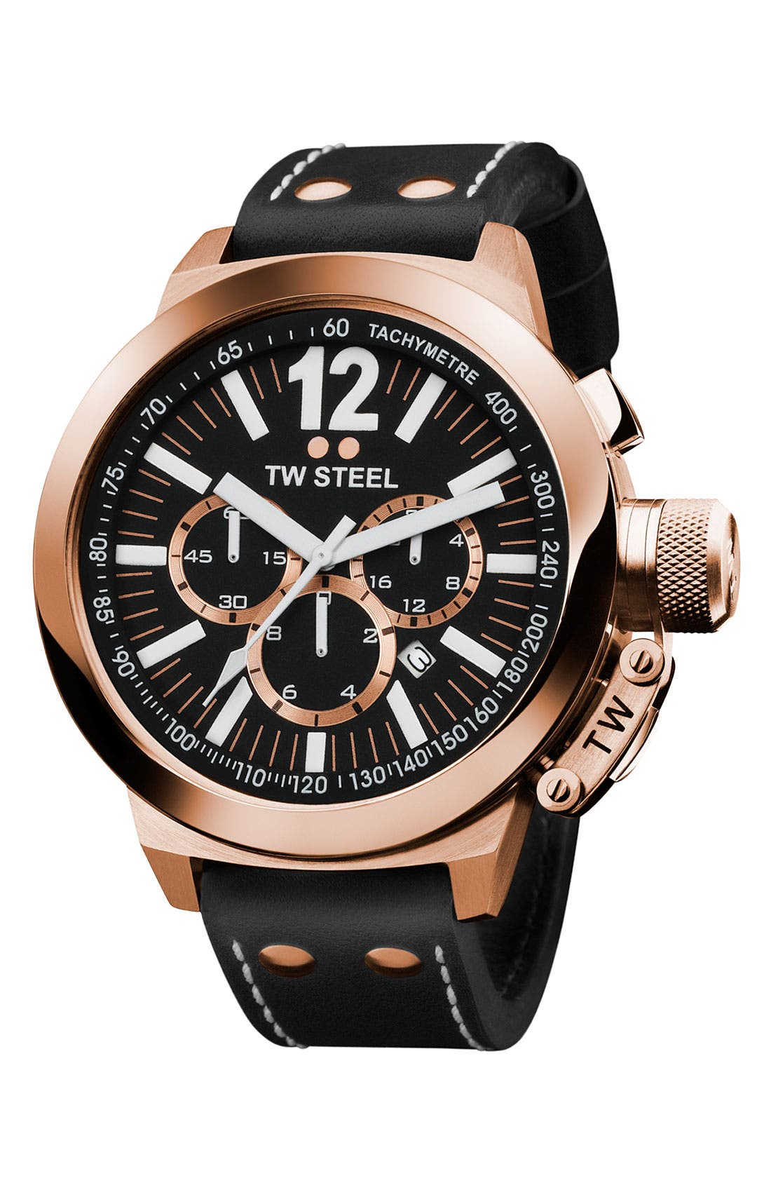 Alternate Image 1 Selected - TW Steel Rose Gold Chronograph Watch