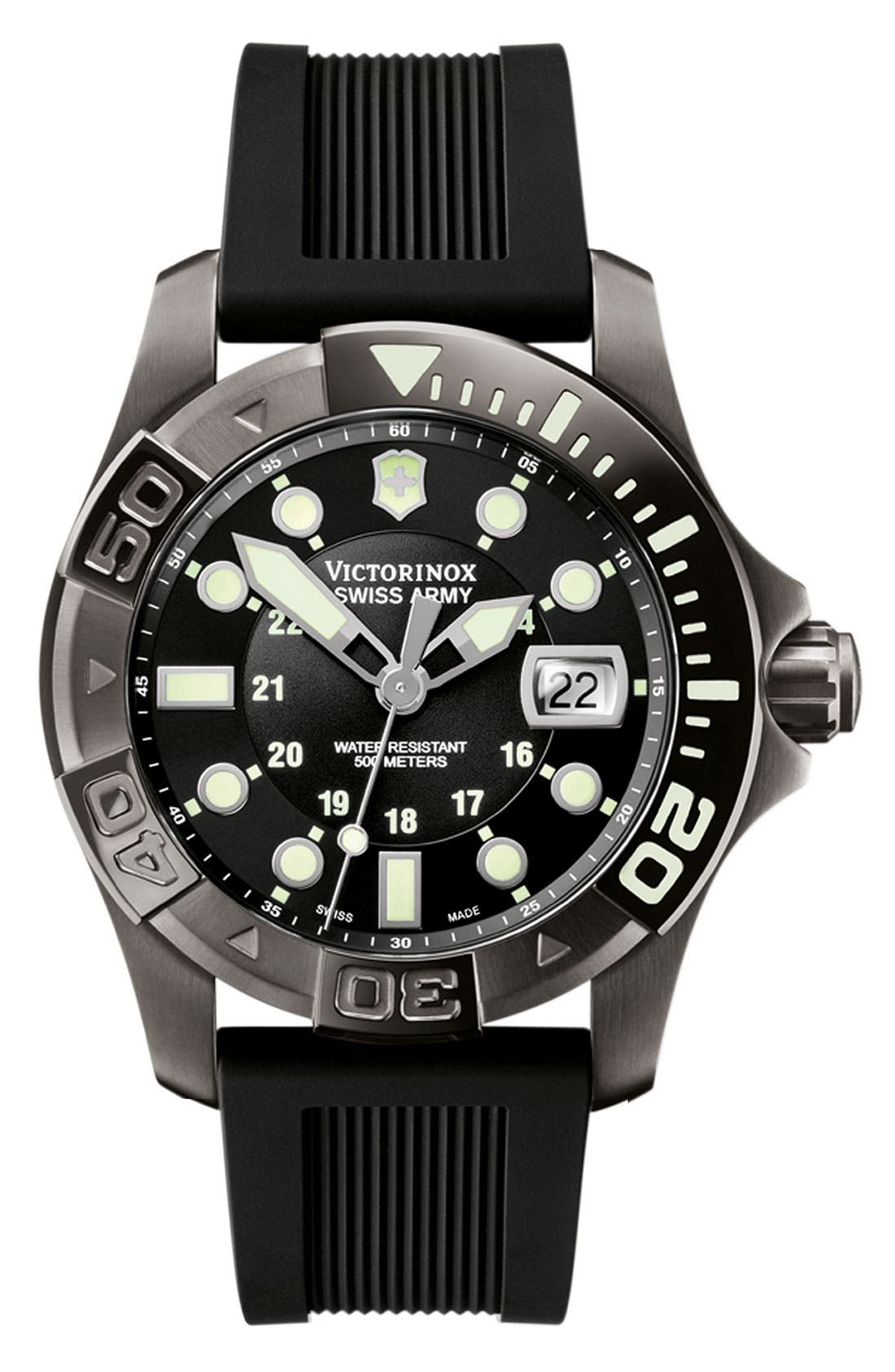 Alternate Image 1 Selected - Victorinox Swiss Army® 'Dive Master' Gunmetal Strap Watch, 43mm