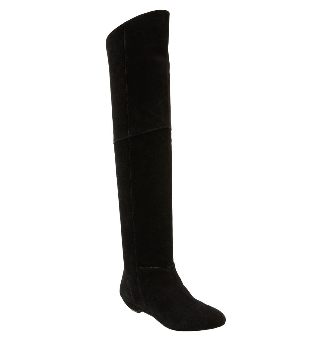 'Overrpas' Over the Knee Boot,                             Main thumbnail 1, color,                             Black Suede