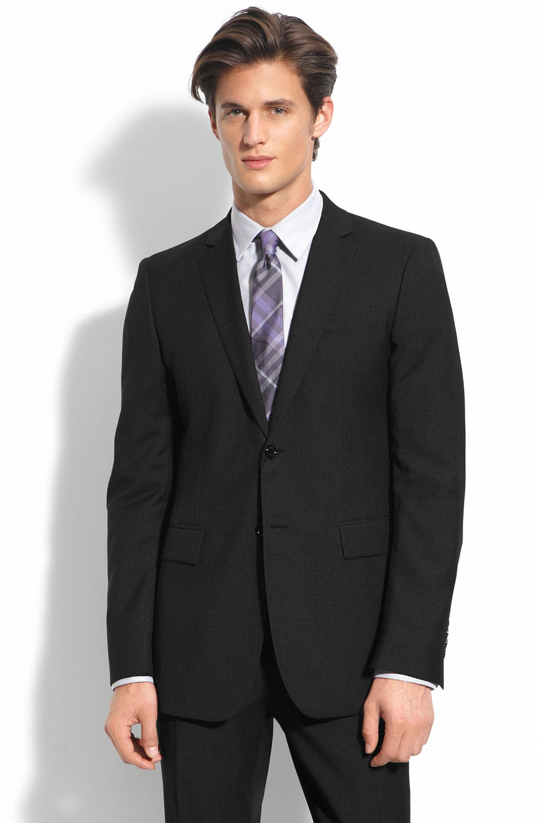 Main Image - Burberry London Charcoal Wool Suit