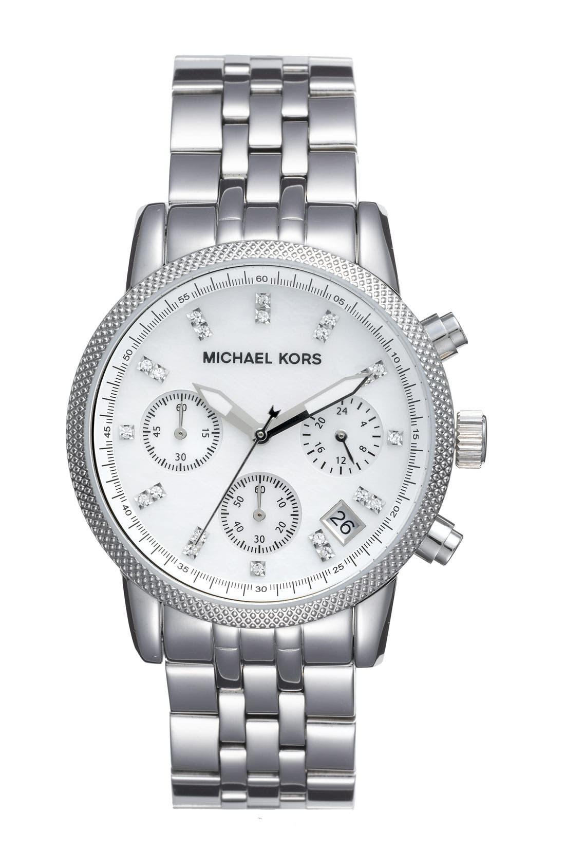 Main Image - Michael Kors 'The Ritz' Chronograph Bracelet Watch, 36mm